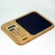 Bamboo mouse pad with calculator