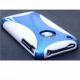 Plastic iPhone 3 cover in white / Blue color