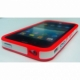 Plastic iPhone 4G cover In white with red stripes and frame