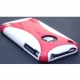 Plastic iPhone 3 cover in white./red color