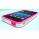 iPhone 4G plastic cover with stripe (Pink color)