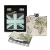 Cufflinks, Namecard Holder & Hip Flask